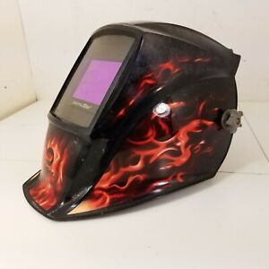 Miller Digital Elite Auto Darkening Welding Helmet Black With Flames
