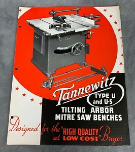 Tannewitz Type U U 2 Tilting Arbor Table Saw Brochure