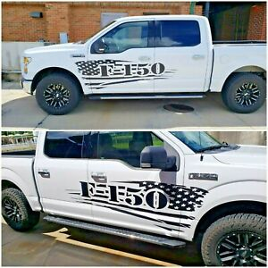 American Flag Graphics Vinyl Decals Decor Fit Ford Truck F 150 F150 Any Colors