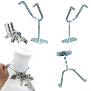 Feed Paint Spray Gun Holder Stand Hvlp Wall Bench Mount Hook Booth Cup Accessory