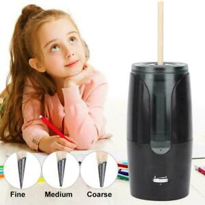 Electric Pencil Sharpener Automatic Pencil Student School Stationery Black