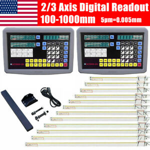 Us 2 3 Axis Digital Readout Dro Display Linear Scale Encoder For Milling Machine
