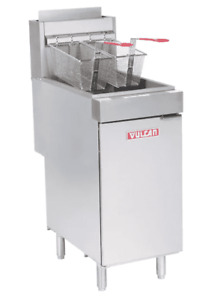 Vulcan Lg400 1 45 50 Lb Natural Gas Floor Fryer 120 000 Btu