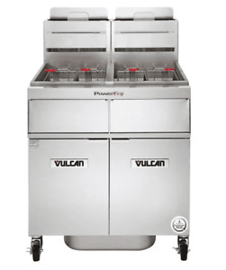 Vulcan 2tr45af 1 Powerfry3 Natural Gas 90 100 Lb 2 Unit Fryer System With Solid