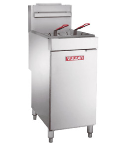 Vulcan Lg300 Gas Fryer 1 40 Lb Vat Floor Model Natural Gas