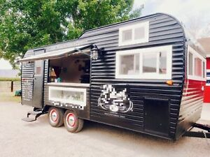 Turnkey Mobile Cafe Business 1972 8 5 X 19 Vintage Coffee Concession Trailer