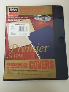 Presentation Covers For Comb Binding Systems Executive Oversize Window Navy 15pk