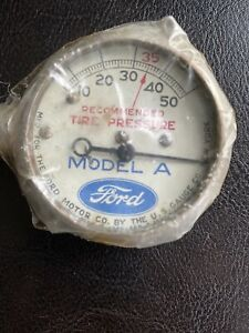 Vintage Model A Ford Tire Gauge 1928 1929 1930 1931 Antique Tool Kit Accessory
