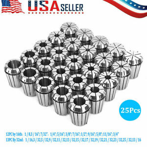 Er32 Collet Set 1 8 13 16 By 16th And 32nd Industrial Grade Accurate 25pcs