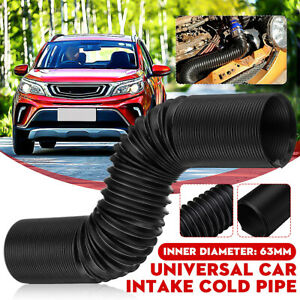Universal 2 5 Flexible Cold Air Intake Systems Duct Feed Hose Pipe Extendable