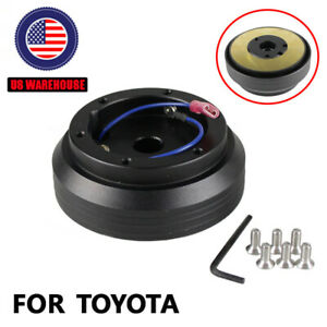 Thin Version 6 Hole Steering Wheel Hub Adapter Boss Kit For Toyota Camry Corolla
