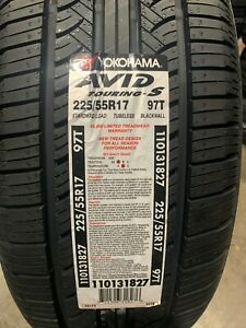 4 New 225 55 17 Yokohama Avid Touring S Tires