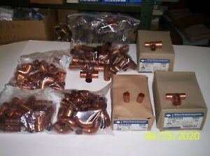 Lot Of 250 3 4 Inch And 1 2 Inch Copper Sweat Fittings Free Shipping