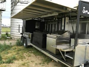 Unique 2016 6 X 25 Open Barbecue Smoker Trailer Bbq Pit Tailgating Trailer