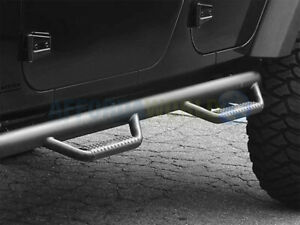 N Fab Nerf Bars Side Steps Textured Black For 2005 15 Toyota Tacoma Double 2