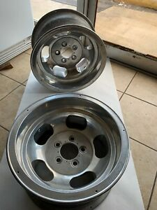 Ansen Vintage Aluminum Slots Rear 15x8 5 Gasser Drag Race Chevy Gm Wheels J16772