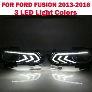 For Ford Fusion 2013 2016 Led Drl Daytime Running Fog Driving Light Replacement