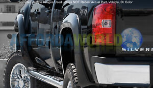 Extend A Fender Rear Flare Matte Blk For 07 13 Silverado 1500 07 14 2500 3500