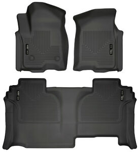 Husky Weatherbeater Floor Mats Liner Set For 2019 20 Silverado sierra Double
