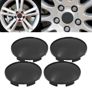 4x 68mm Black Wheel Hubs Center Universal Wheel Rim Hub Cover Caps Abs Stock