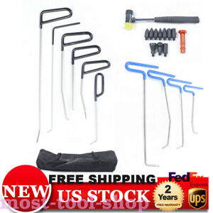 Pdr Tools Kits Push Pull Rods Hook Tail Hail Removal Strap Paintless Dent Repair