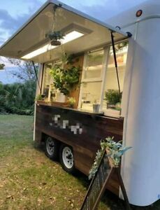 Attention grabbing Rustic 8 X 10 Street Food Concession Trailer For Sale In Fl
