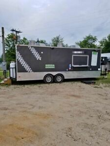 2015 8 5 X 24 Freedom Mobile Kitchen Food Concession Trailer W Bathroom For