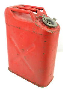 Vintage 1974 Usmc 5 Gallon Gas Can Fuel Blitz Jerry Jeep Truck Red Tank Military