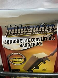 Milwaukee Hand Truck 500 Lbs Push Cart Hauling Convertible Moving Dolly Trolley
