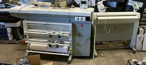 Oce Tcs 500 Wide Format Color Printer plotter Scanner As Is Both Power On