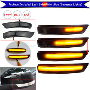 For Ford Focus Mk2 08 18 Mondeo Mk4 Led Side Mirror Indicator Turn Signal Light