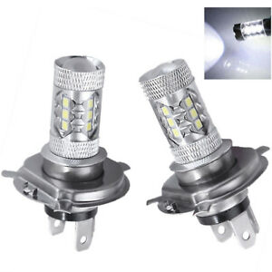 2x H4 9003 Hb2 Led Bulb High Power High Low Beam Headlight Motorcycle 6000k New