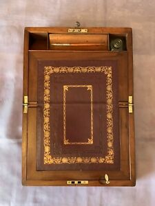 Victorian Writing Slope Box With Working Lock Key