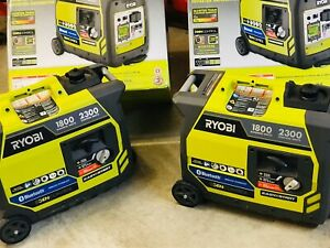 2 Ryobi Super Quiet Inverter 2300 Watt Bluetooth Lightweight Parallel Kit More