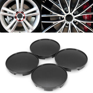 4pcs 68mm Black Wheel Hubs Center Universal Wheel Rim Hub Cover Caps Well Made