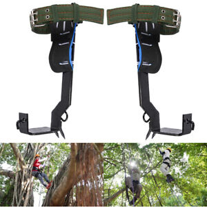 1 Pair Tree Climbing Spike Set Lanyard Rope Rescue Belt For Travel Climber In Us