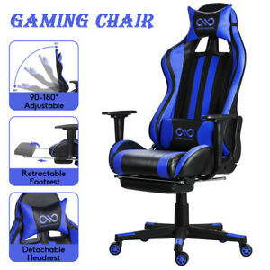 Office Chair Executive Swivel Leather Gaming Chair High Back Computer Desk Seat