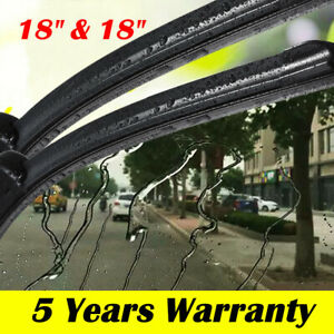 18 18 Windshield Wiper Blades Premium Hybrid Rubber J Hook High Quality Pair