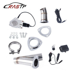 63mm Exhaust Control E cut Out Dual Valve Electric Y Pipe With Remote 2 5 Us