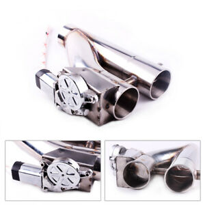New Exhaust Control E Cut Out Dual Valve Electric Y Pipe With Remote Kit 3 Inch