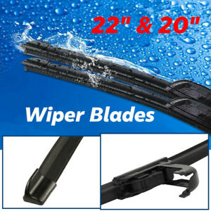 22 20 Windshield Wiper Blades Premium Hybrid Rubber J Hook High Quality