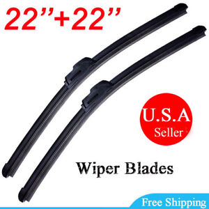 New 22 22 Windshield Wiper Blades Premium Hybrid Rubber J Hook High Quality