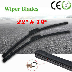22 19 Windshield Wiper Blades Premium Hybrid Rubber J Hook High Quality