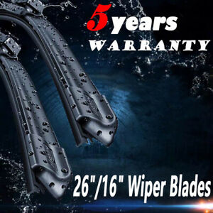 26 16 Windshield Wiper Blades Premium Hybrid Rubber J Hook High Quality