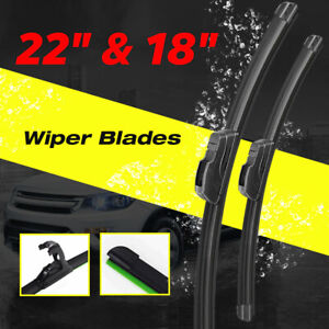 22 18 Windshield Wiper Blades Premium Hybrid Rubber J Hook High Quality