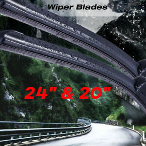 24 20 Windshield Wiper Blades Beam Premium Hybrid Rubber J Hook High Quality