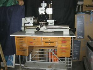 Emco Maximat 7 Metal Lathe Milling Machine With Table Accessories