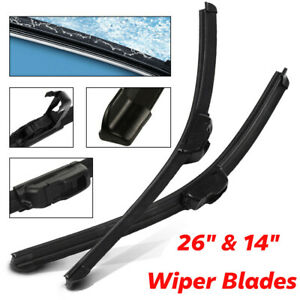 26 14 Windshield Wiper Blades High Quality Beam Premium Hybrid Rubber J Hook