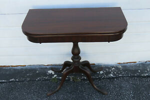 Mahogany Console Folding Card Game Dinette Extension Table By Grad Rapid 1314