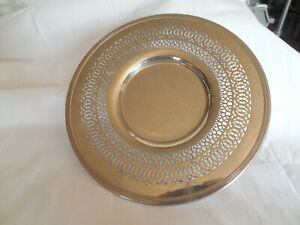 Royal Rochester Vintage Silver Plate Tray Charger 3470